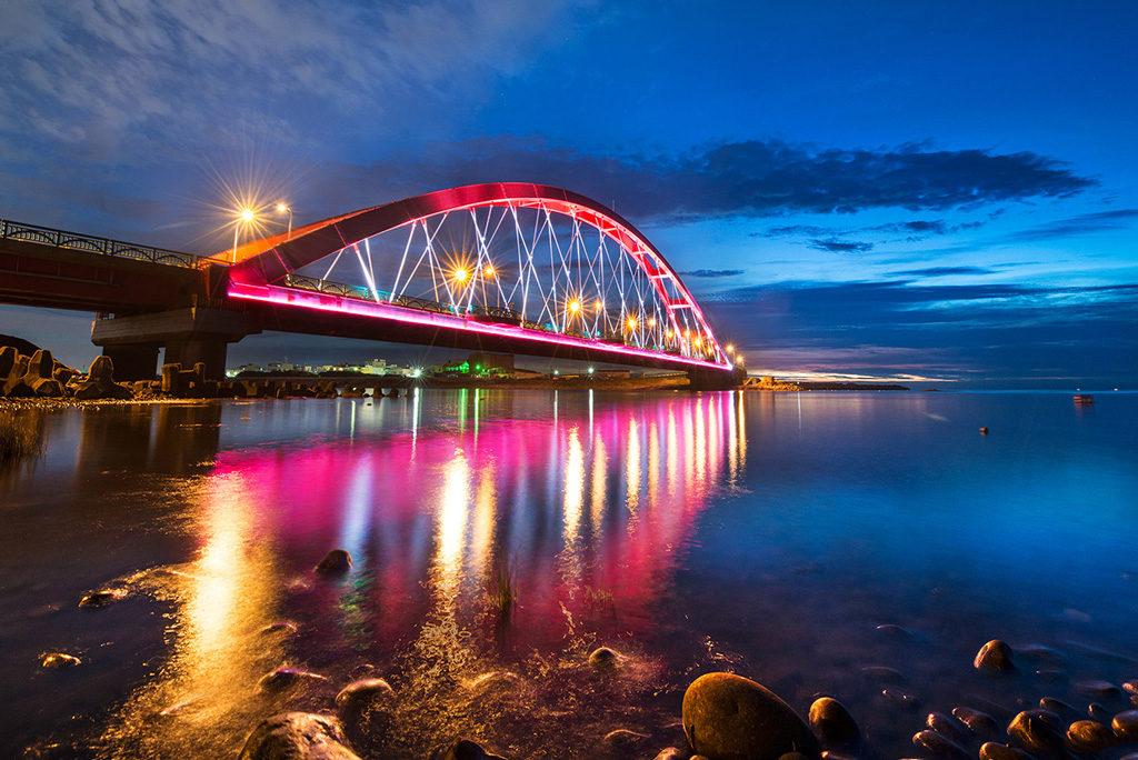 桃園,竹圍漁港,彩虹橋,桃園包車