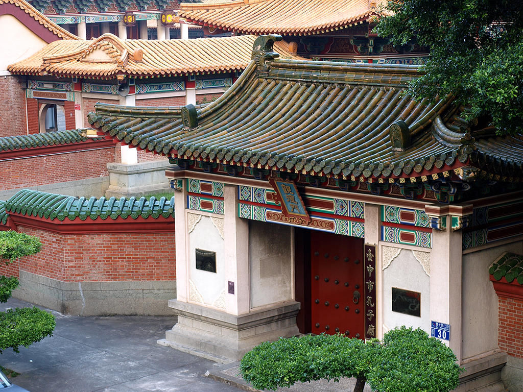 臺中孔廟,忠烈祠,孔廟